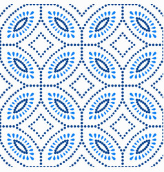 blue flower pattern boho beads background vector image