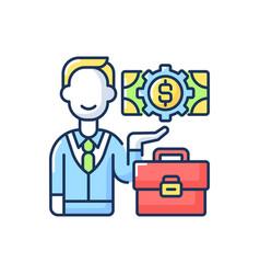 Businessman rgb color icon vector