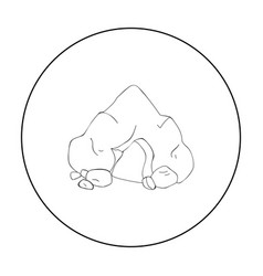 Cave icon in outline style isolated on white vector