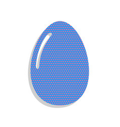 Chicken egg sign neon blue icon with vector