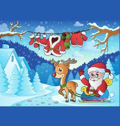 Christmas outdoor theme 2 vector