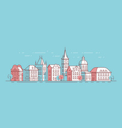 city view historical buildings classical vector image