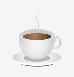 Cup cappuccino coffee or latte vector