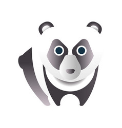 cute panda bear stylized geometric animal low vector image