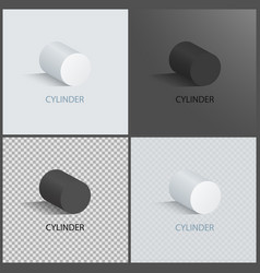 Cylinder collection posters vector