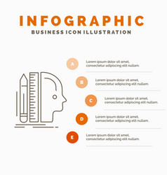 Design human ruler size thinking infographics vector