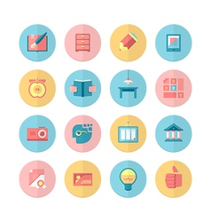 Education and training 16 Flat Icons Set vector