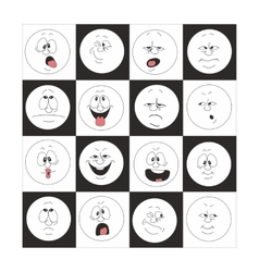 Emotion smiles set in box 002 vector image