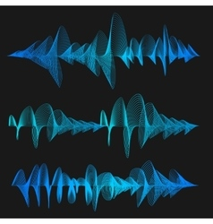 Equalizer Thin Line Set vector