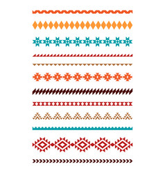 ethnic geometric borders vector image