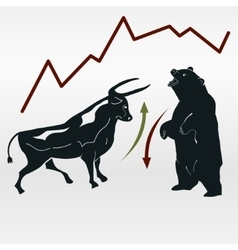 exchange bull and bear market report vector image