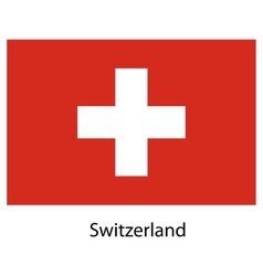 Flag of the country switzerland vector image