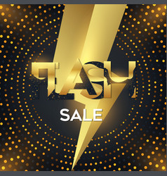 flash sale poster commercial discount event banner vector image