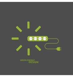 flat electrical extension cord vector image