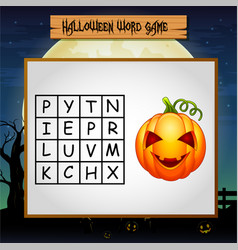 game helloween find the word of pumpkin vector image