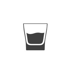 Glass of whiskey icon isolated on white background vector