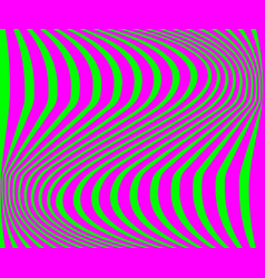 green background with purple zigzag stripes in vector image