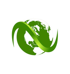 green earth abstract logo template vector image