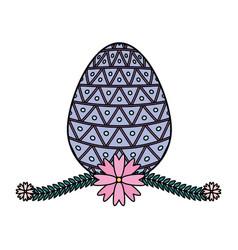 happy easter egg ribbon vector image