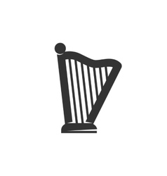 Harp Icon logo on white background vector