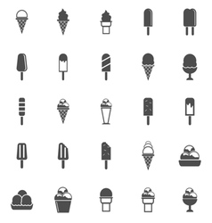 Ice cream icons on white background vector