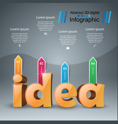 Idea 3d digital infographic vector
