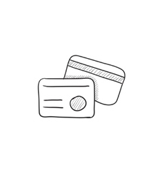 Identification card sketch icon vector image