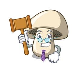 Judge champignon mushroom mascot cartoon vector