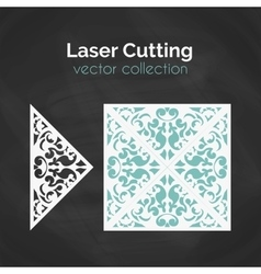 Laser cut card template for laser cutting cutout vector