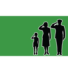 Libya soldier family salute vector