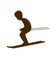 Man trainning ski sport vector