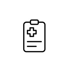 Medical clipboard checklist icon on white vector