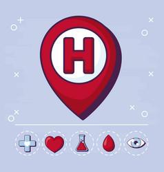 medicine and medical design vector image
