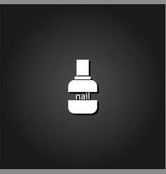 nail polish icon flat vector image