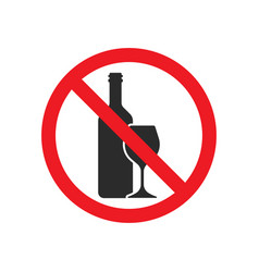 No alcohol icon sign symbol vector