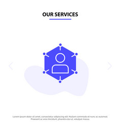 our services connection communication network vector image