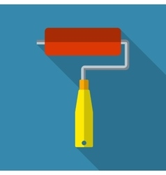 Paint roller flat icon vector image