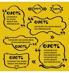 Quote framesVintage template with print vector image