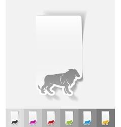 Realistic design element lion vector