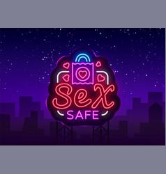 Safe sex design template sex condom concept vector
