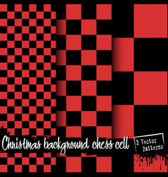 set of christmas chess cell backgrounds vector image