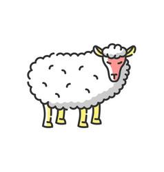 sheep rgb color icon vector image