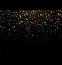 Shiny star burst light with gold luxury sparkles vector