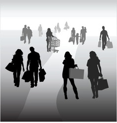shopping 2 vector image