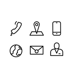 simple icon contact on white background vector image