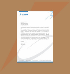 standard blue and white letterhead vector image