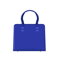 summer mode blue bag poster vector image