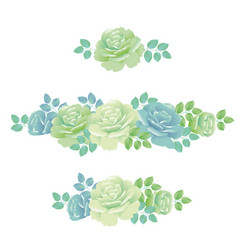 Tender spring roses abstract pale blue and green vector