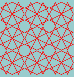 Tile mint green and red pattern or background vector