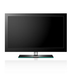 TV flat black screen lcd vector image